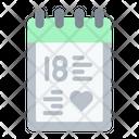 Anniversary Love Loving Icon