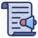 Announcement Megaphone Bullhorn Icon