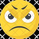 Sad Angry Grinning Icon