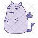 Annoyed Disapproving Sticker Icon