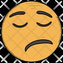 Annoyed Smiley Tired Icon