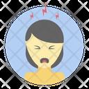 Annoying Fatigue Stressful Person Icon