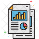Annual Report Analysis Analytics Icon