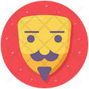 Comedy Mask Anonymous Theater Mask Icon