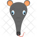 Black Anteater Face Icon
