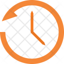 Anti-clockwise clock Icon