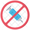 Anti Drugs Injection Policing Icon