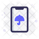 Mobile Anti Virus Umbrella Icon