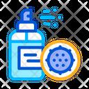 Antibacterial Spray Kill Icon