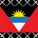 Flag Country Antigua And Barbuda Icon
