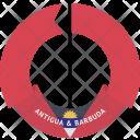 Antigua Barbuda Country Icon