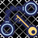 Antique Handcuff Key Icon