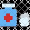 Alcohol Medical Bottle Antiseptic Icon
