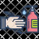 Antiseptic Hand Wash Use Sanitizer Icon