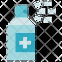 Hygiene Antiseptic Spray Medicine Icon