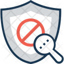 Antivirus Magnifier Block Icon