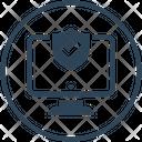 Computer Antivirus Protection Icon