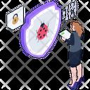 Bug Protection Antivirus Bug Safety Icon