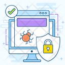 Web Security Antivirus Security Bug Fixing Icon