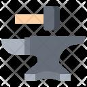 Anvil Hammer Blacksmith Icon