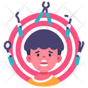 Anxiety Kid Icon