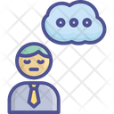 Anxious Serious Stress Icon