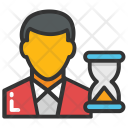 Anxious Businessman Appointment Icon