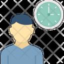 Anxious Person Deadline Punctual Icon
