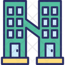 Apartment Building Building Front Icon