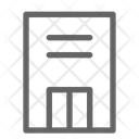 Apartment House Building Icon