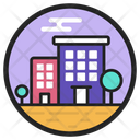 Apartment Accommodation Building Icon