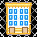 Apartment Building Color Icon