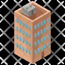 Apartment Building Isometric Icon