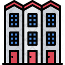 Apartment Building Architecture Icon