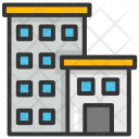 Flats Building Apartment Icon
