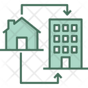 Apartment Home Sharing Icon