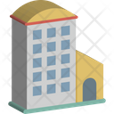 Flats Building Apartments Icon