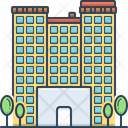 Apartments Building Flat Icon