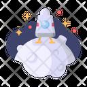 Landing Moon Apollo Icon