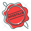 Apostille Red Wax Seal Icon