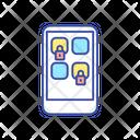 App Block Smartphone Icon