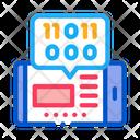Phone App Binary Icon