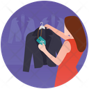 Apparel Shop Coat Shopping Fashion Showroom Icon