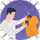 Shirt Shop Apparel Shopping Men Clothing Icon