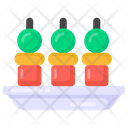 Bbq Stick Appetizer Food Icon