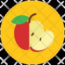 Apple Half Healthy Icon