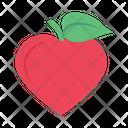 Apple Heart Love Icon