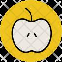 Apple Half Fruit Icon
