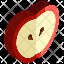 Apple Slice Fruit Icon