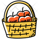 Fruit Basket Apple Basket Apple Bucket Icon